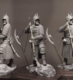 Russian musketeer times of Ivan the Terrible. 54 mm.