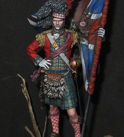 Pegaso Models 42nd Royal Highlanders abanderado 1815 20th años limitada Ed. 75mm