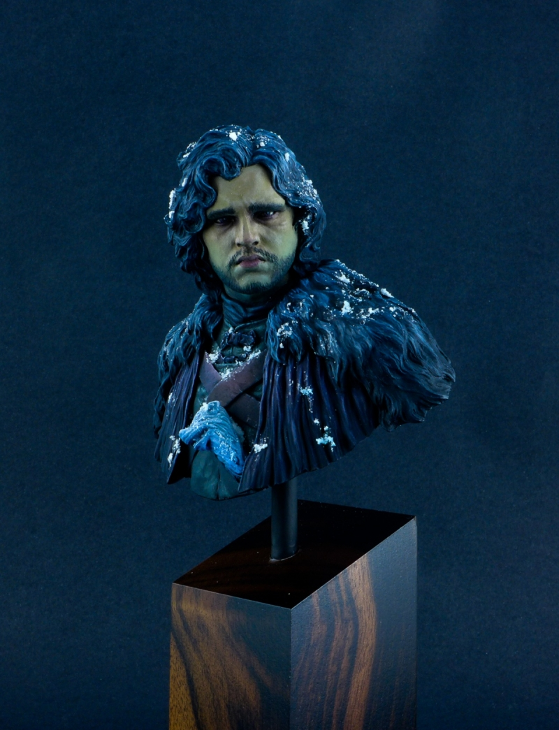 Jon Snow bust : dark and sad ambiance