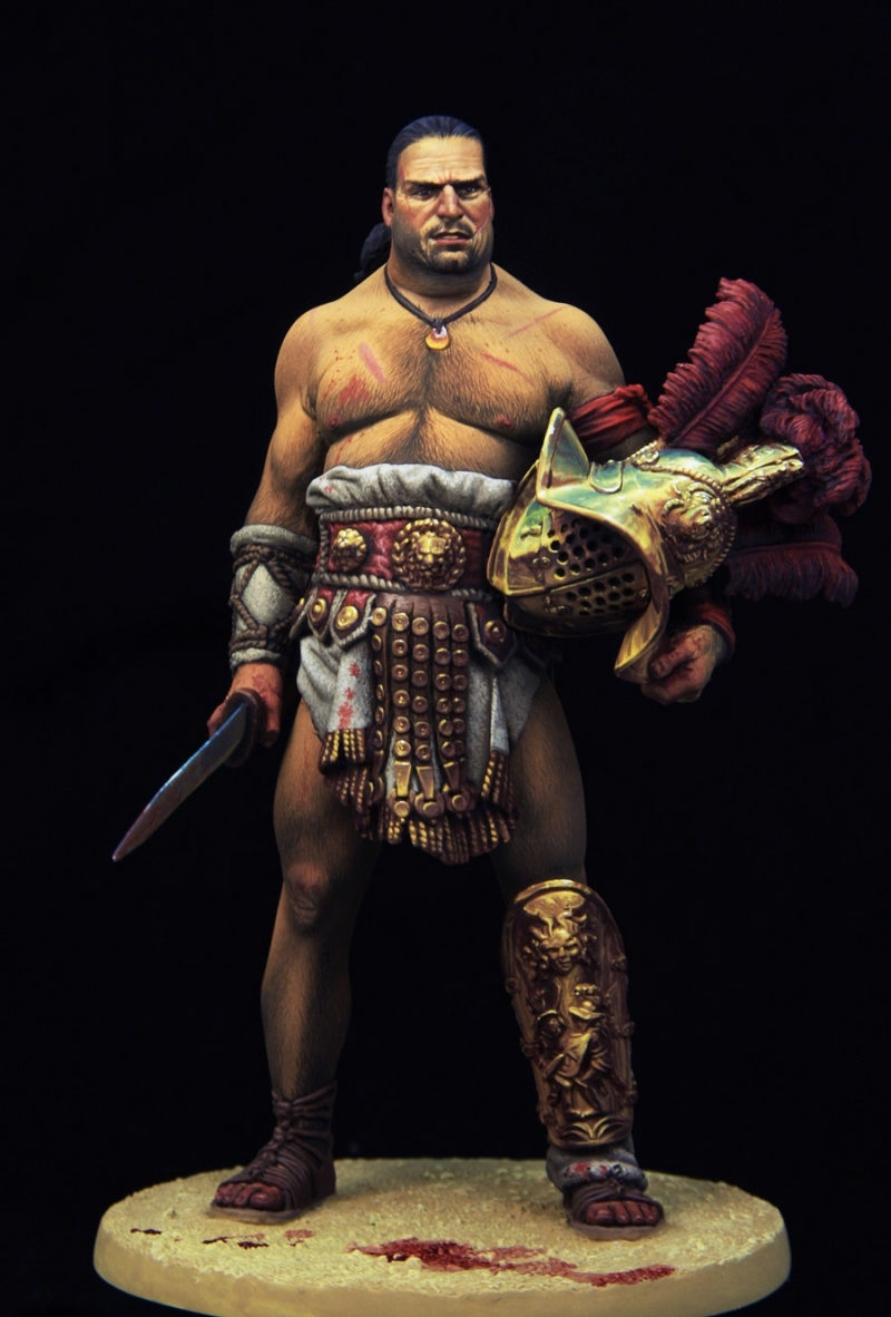 Mirmillon gladiator 90mm boxart for Pegaso models