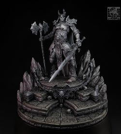 Chaos Lord in greyscale