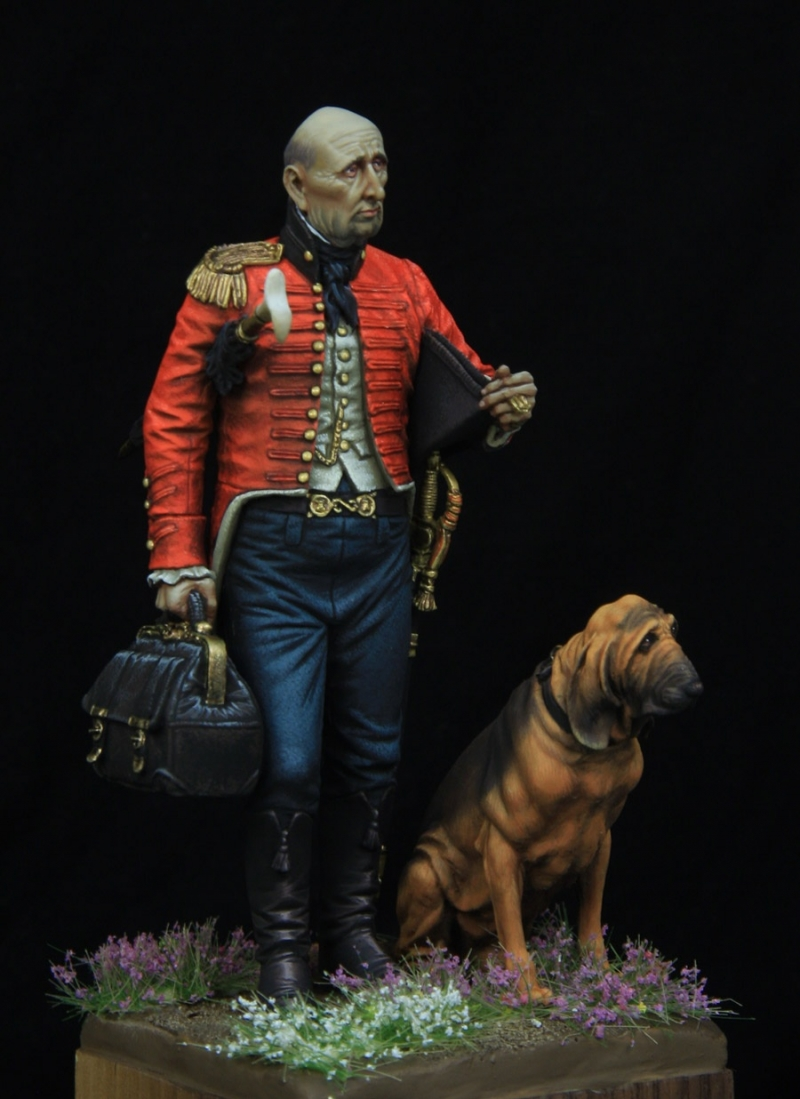 British staff surgeon 1810.  75mm boxart for Castle miniatures.