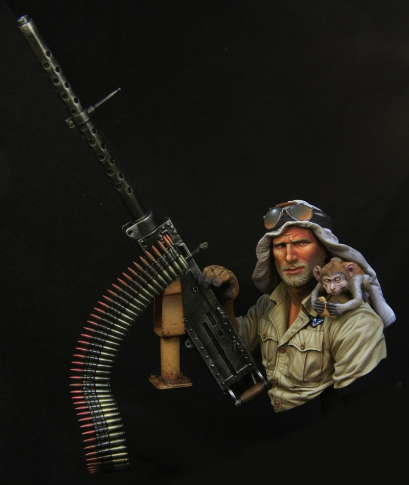 WWII SAS jeep gunner boxart for Young miniatures