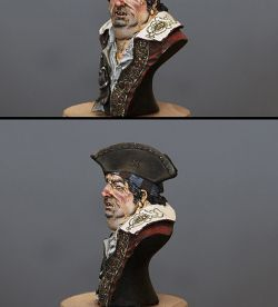 Bust of the pirate.