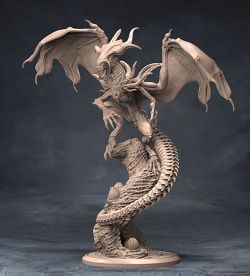 Xenomorph Dragon Sculpture