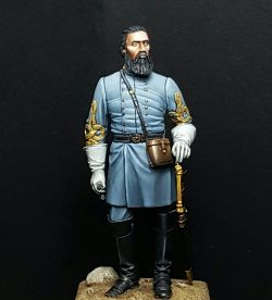 My last work. John Bell Hood. Confederate general in the American civil war. Figurine produced by MM