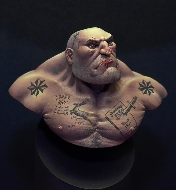 "Russian Tattoo Meanings Wiki: Ivan ""Knucklehead"" Brutalovic By Raffaele Picca · Putty&Paint"
