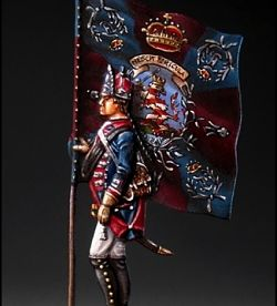 Hessian Standard-bearer, Regiment Erbprinz, 1776