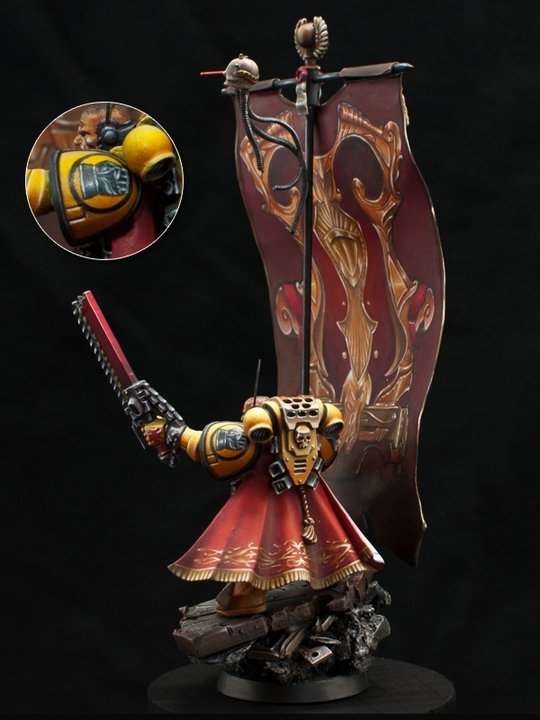 Imperial Fist Standard Bearer