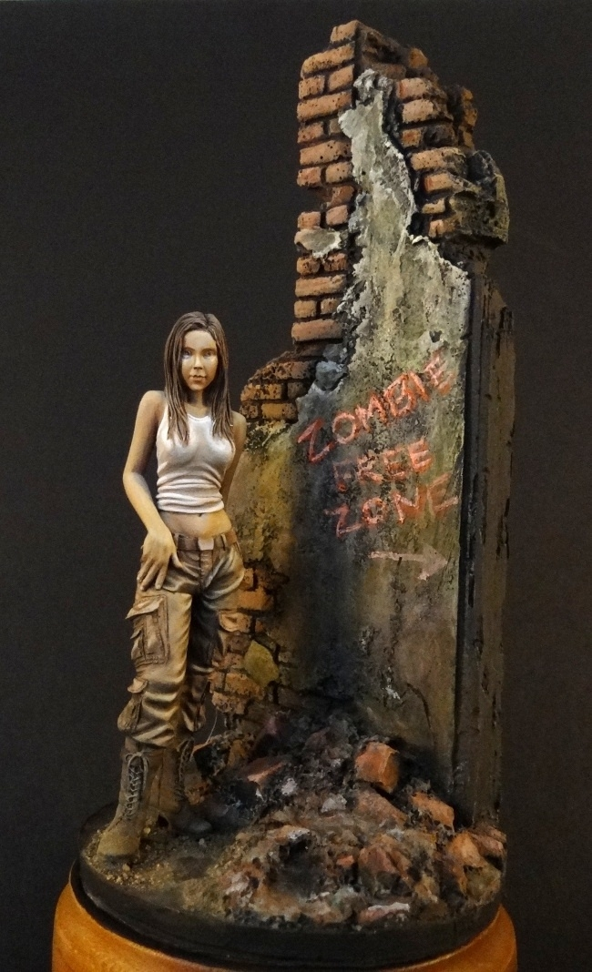 Zombie Huntress By Milosh Meehan 183 Putty Amp Paint
