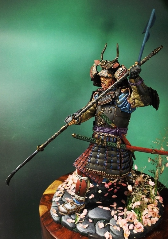 Samurai Warrior With Naginata 1600 1867 By Anson