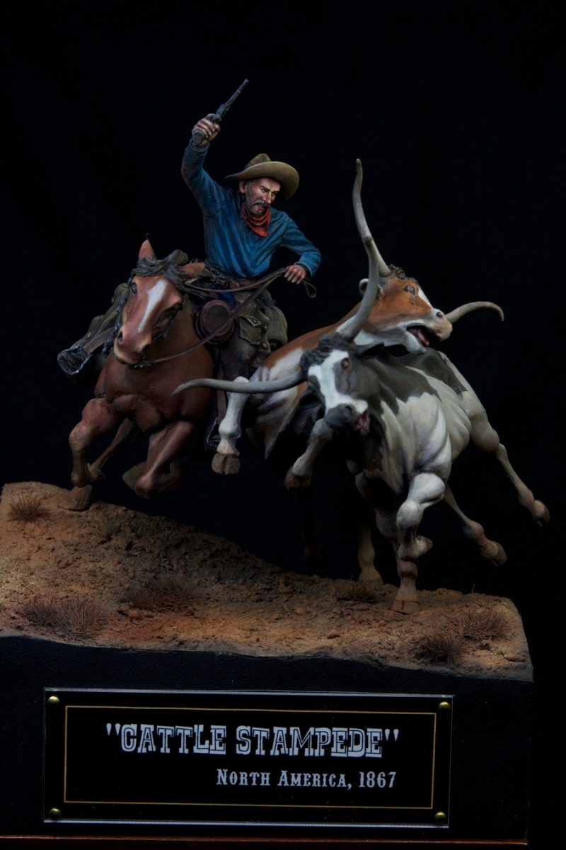 Cattle Stampede 1867 By Kaz Quot Histone Quot 183 Putty Amp Paint