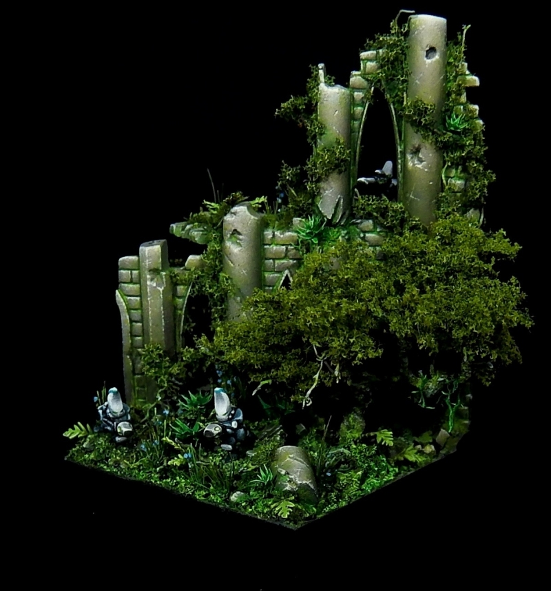 Epic scale (6mm) Eldar diorama : the base