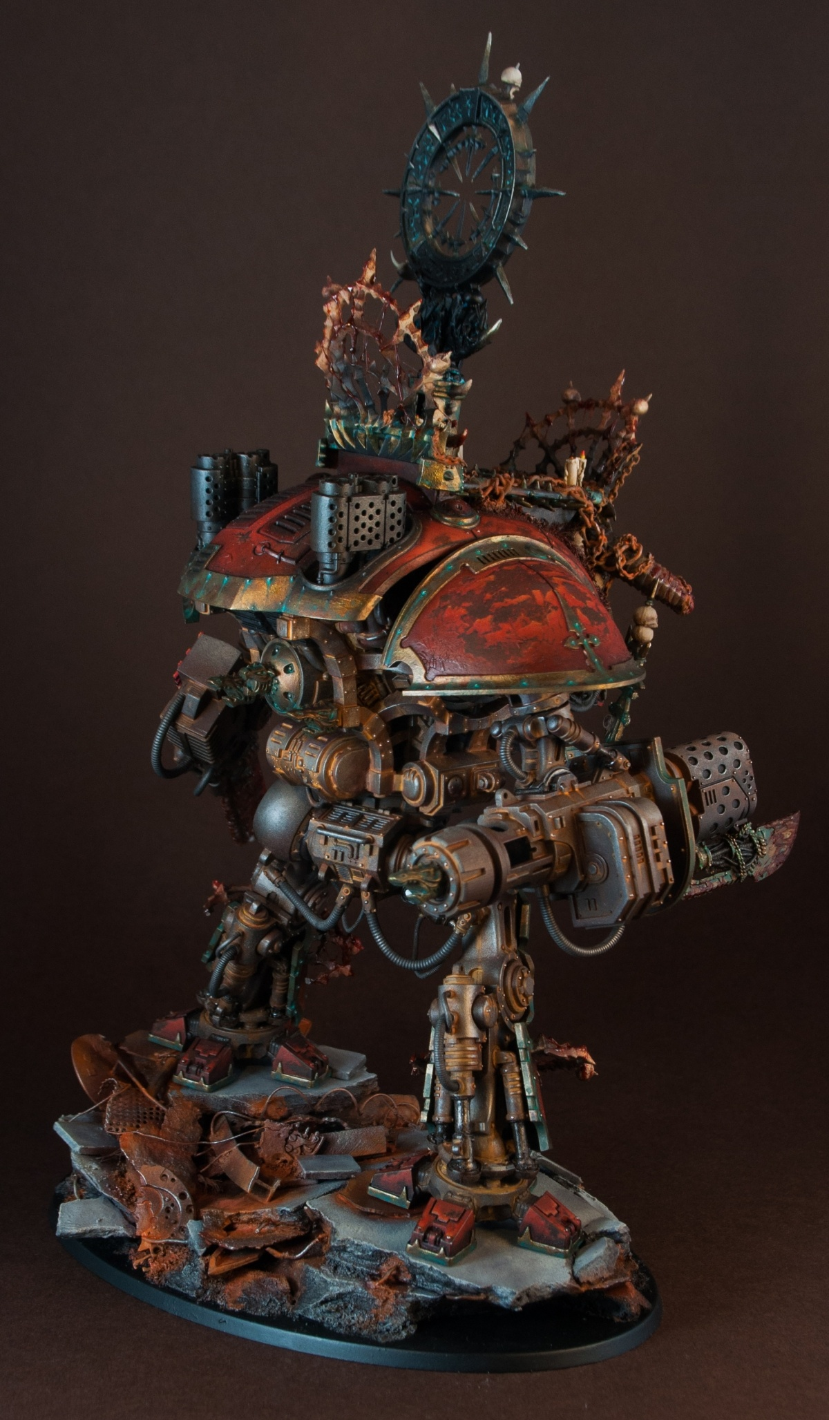 """Knight Of Wands As Advice: Imperial Knight Of Khorne By Paweł Makuch """"Monstroys"""