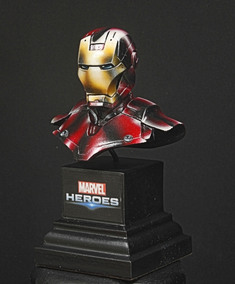 bust iron man knight model by damien tomasina aphorys putty paint. Black Bedroom Furniture Sets. Home Design Ideas