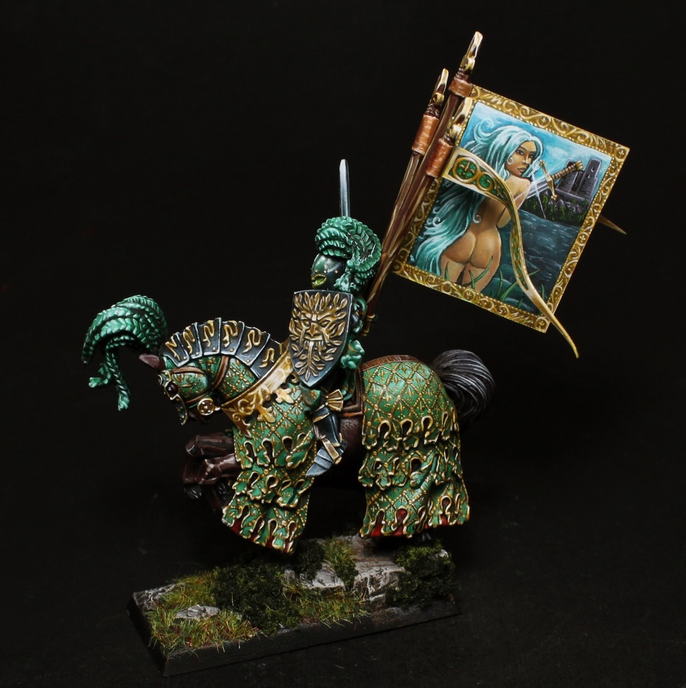 green knight by artem romanov putty paint. Black Bedroom Furniture Sets. Home Design Ideas