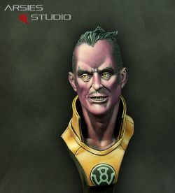 Sinestro, the Yellow Lantern (Anonymous bust)