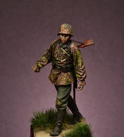 German soldier in camouflage smock