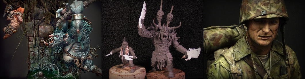 Fantasy and Historc Models - Painted Miniatures and Sculpted Figures