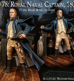 ROYAL NAVAL CAPTAIN, 1805 ( ALEXANDROS MODELS)