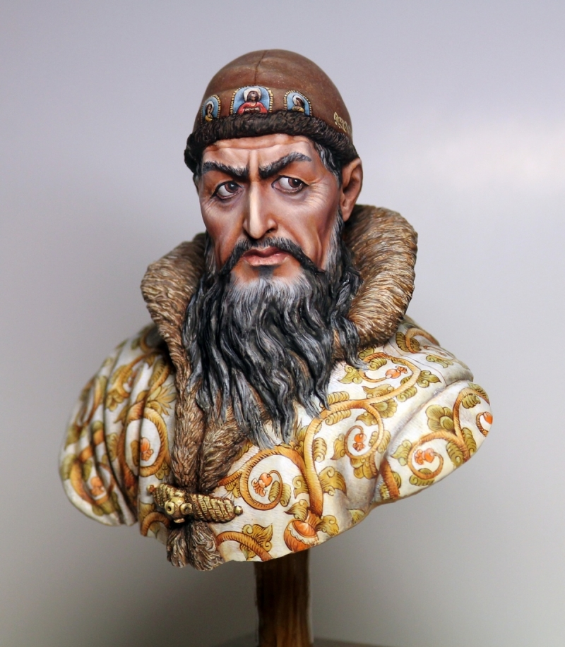 Tsar Ivan IV The Terrible sculpted & painted by me