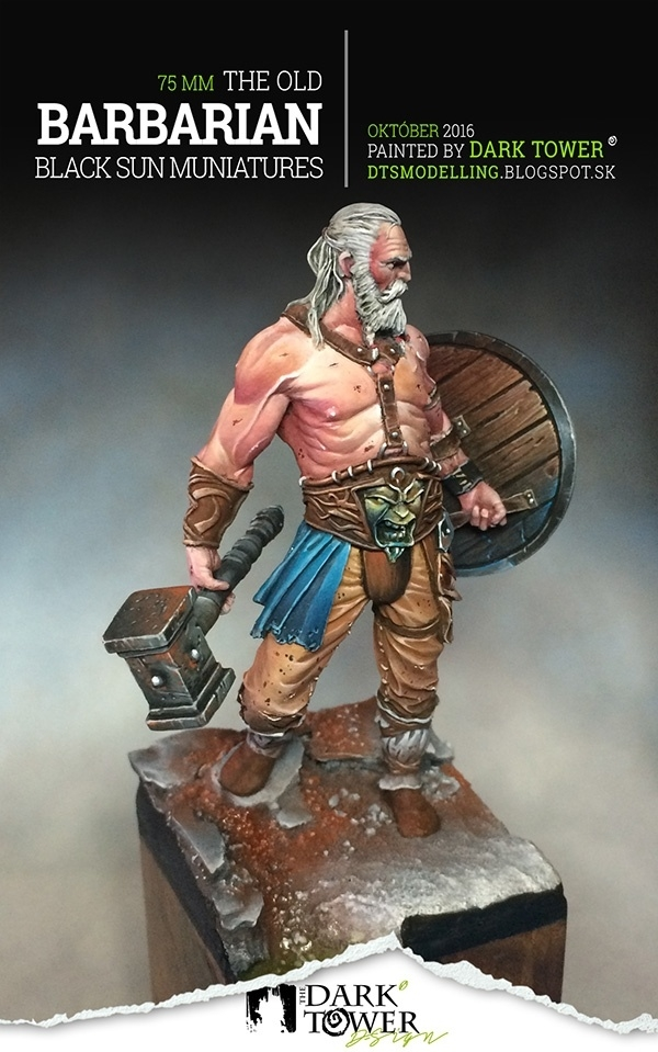 Old Barbarian  Black Sun Miniatures  By Radovan Darktower
