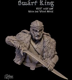 Dwarf  King,Bust Scale 1/16…..Dolman Miniatures