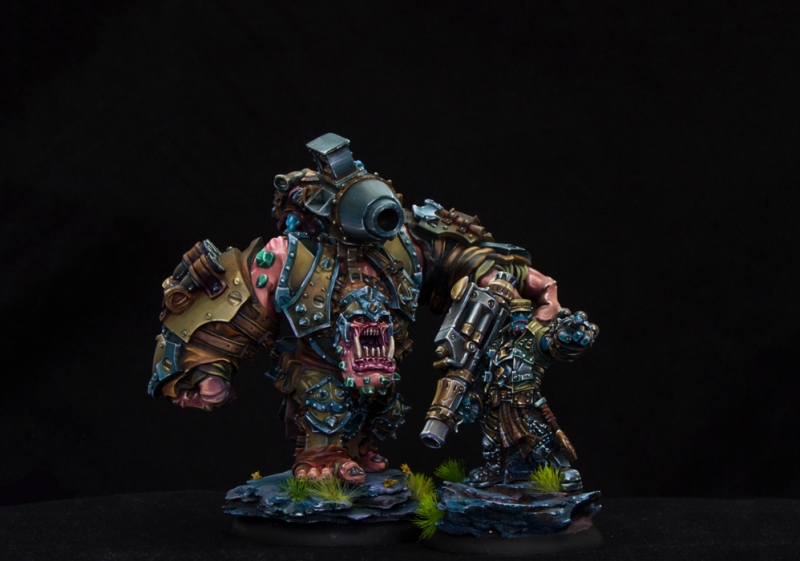 Captain Gunbjorn and a Heavy Warbeast Dozer with Smigg
