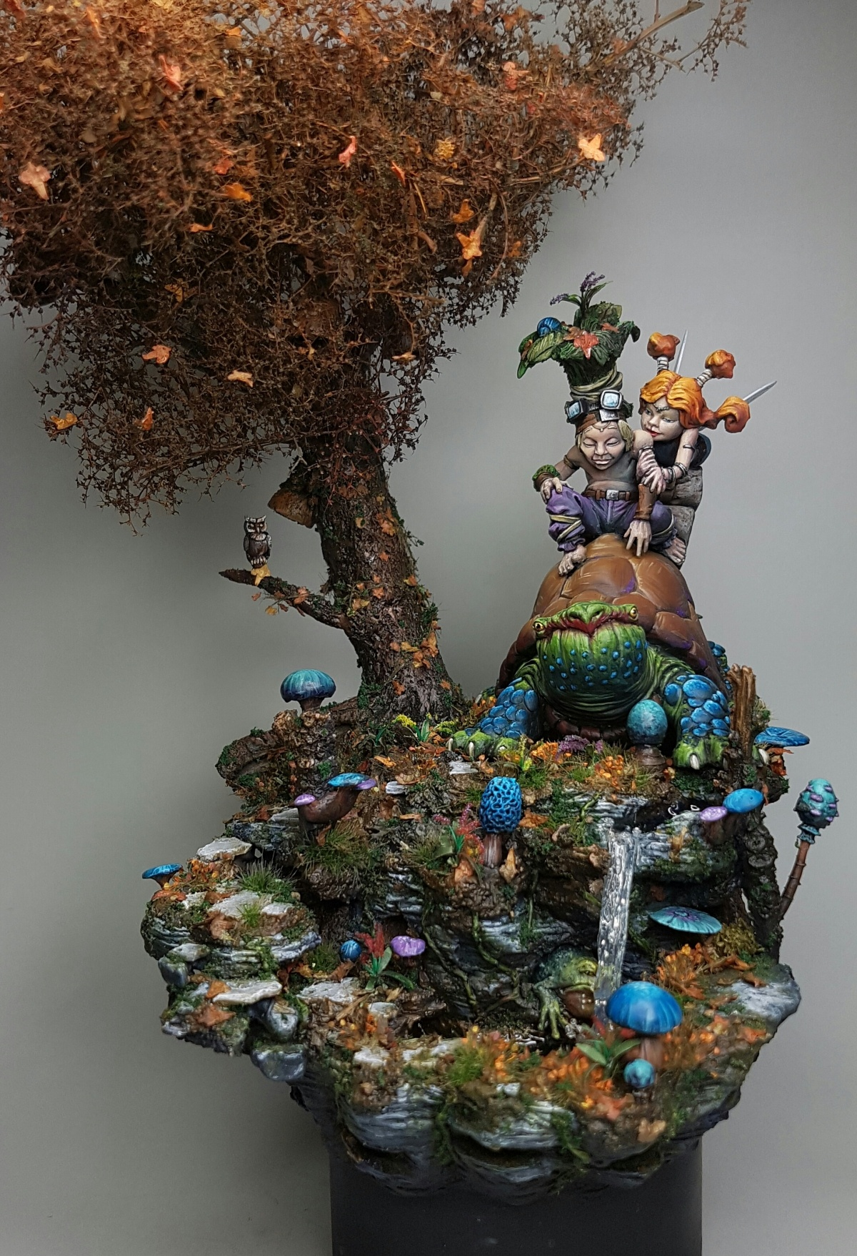 The Enchanted Pool, Sina and the Knight - Aradia Miniatures by Trent