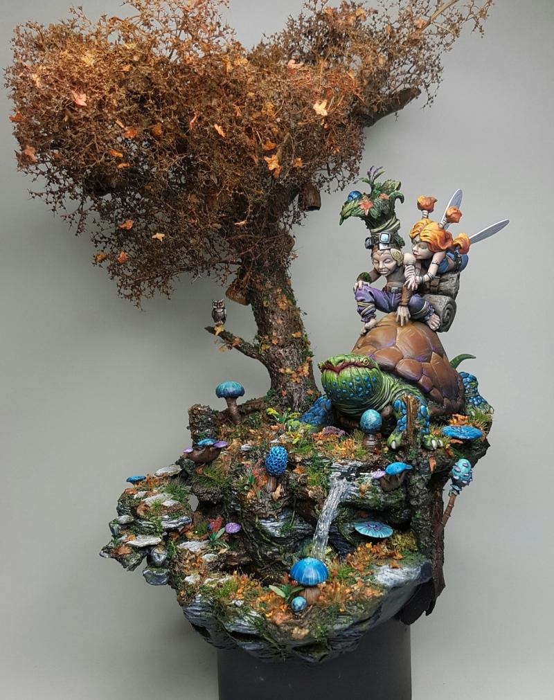 The Enchanted Pool, Sina and the Knight - Aradia Miniatures