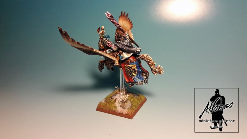 Empire Wizard on Pegasus - Warhammer Fantasy - Conversion
