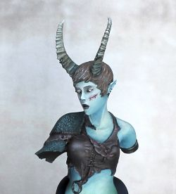 Moonlight Shadow - Faun bust from Origen Art