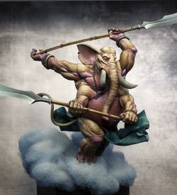 """Fight of Gods"" Ganesh alternative box art for Aradia Miniature"