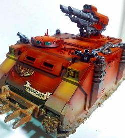 First go with an airbrush - Blood Angels Razorback