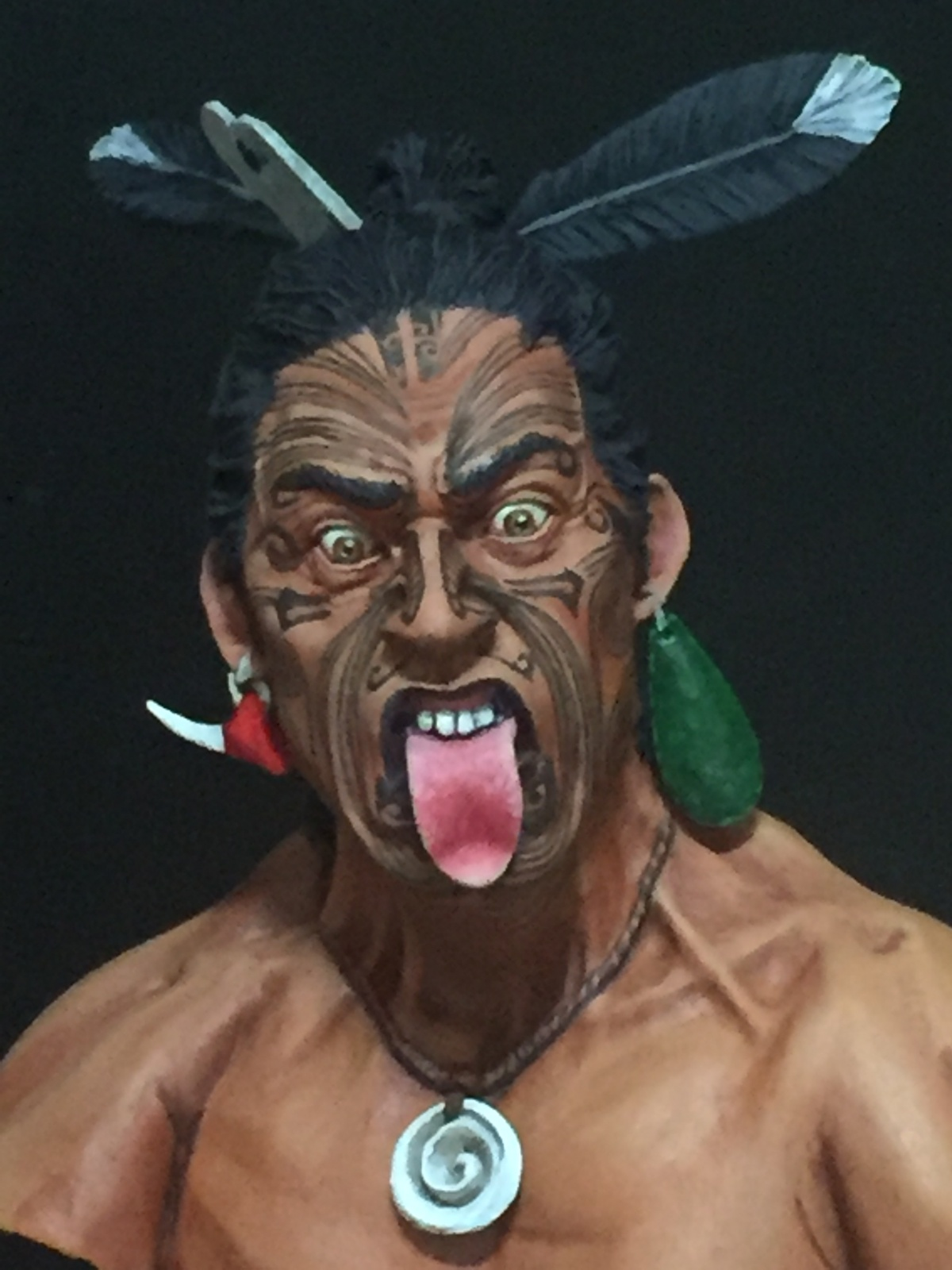 282 Best Maori Faces Images On Pinterest: Maori Warrior By Tony Dawe · Putty&Paint