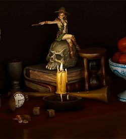 Vanitas Still Life with Witch