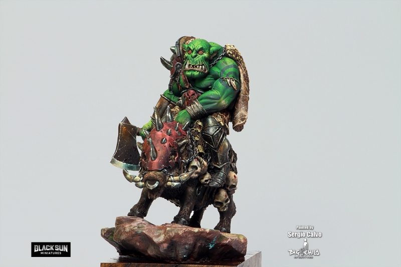 Orc on boar