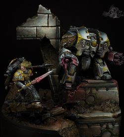 Space wolves diorama.