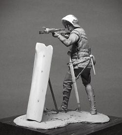 Medieval crossbowman. 54mm.