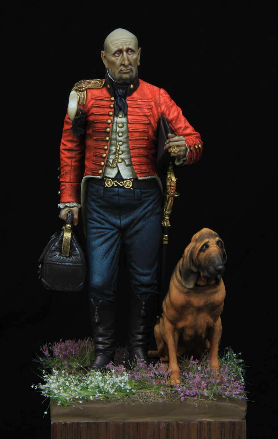 British staff surgeon 1810  75mm boxart for Castle miniatures  by