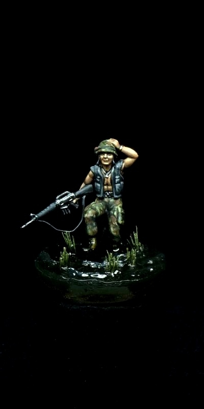Through the Paddy - 1/72 Vietnam USMC trooper
