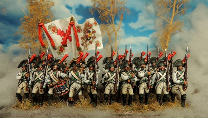 Spanish regiment Saragoza during the napoleonic wars 28 mm