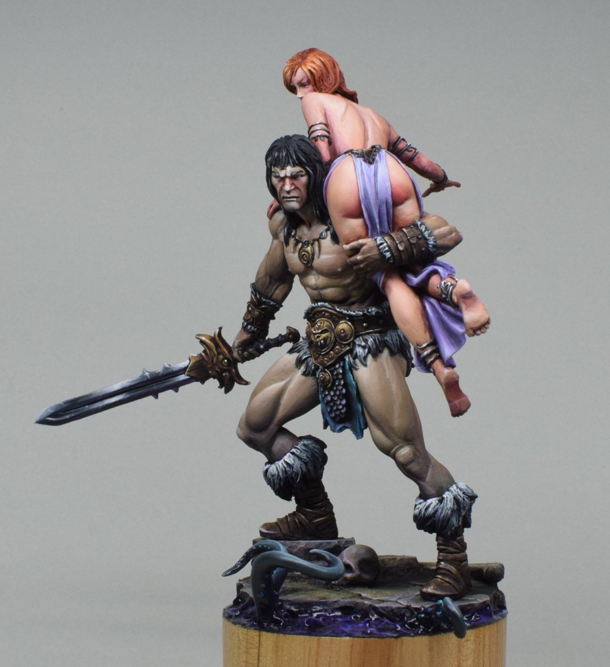 Conan and the Lost Princess - Black Sun Miniatures by Trent