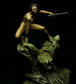 Tamara Bear's Daughter - Darksword Miniatures Female Nude Study, 28mm
