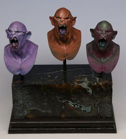 A trio of Orcs - Hera models