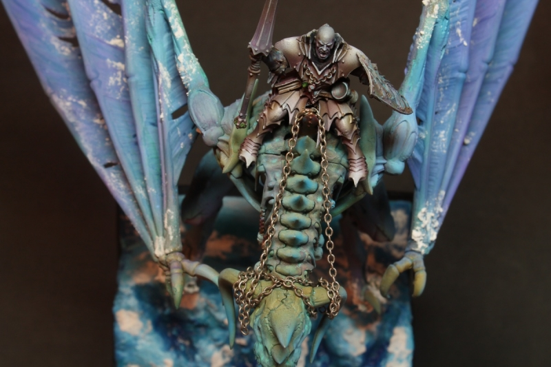 Vampire lord on Frozen zombi dragon.