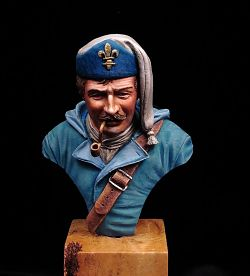 French naval soldier - bust