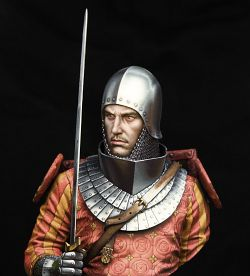 European knight early XIVc. 1\10 boxart for Young miniatures