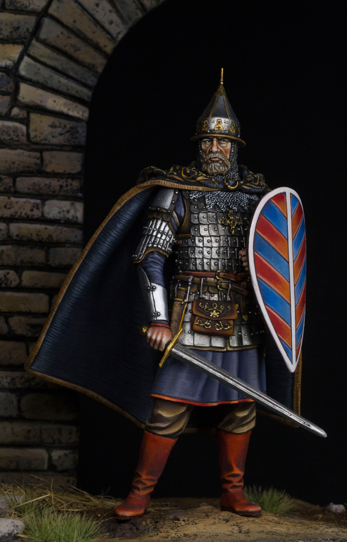 How Much Is A Paint Job >> Mercury Models 75mm, Medieval russian warrior by Aleksandr ...
