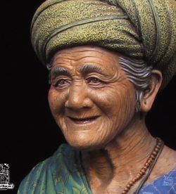 The Old Lady of Bali - Robot Rocket Miniatures